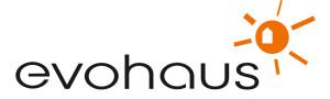 Logo von evohaus GmbH Gesellschaft für energiesparendes und kostengünstiges Bauen